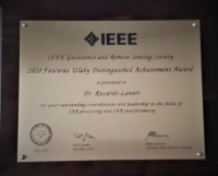 Riccardo Lanari received the Distinguished Achievement Award from the IEEE Geoscience and Remote Sensing Society